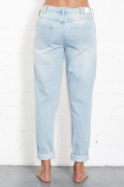 NANA JUDY Boyfriend Jeans- Ice Blue