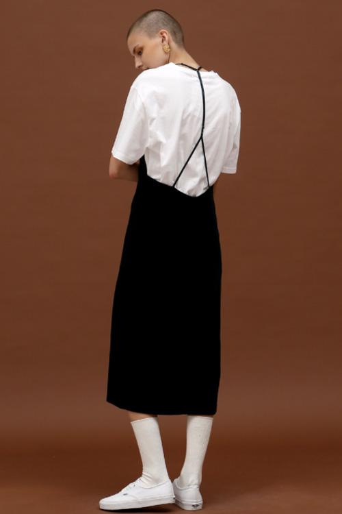 ROCKET LUNCH Velvet Midi Dress- Navy
