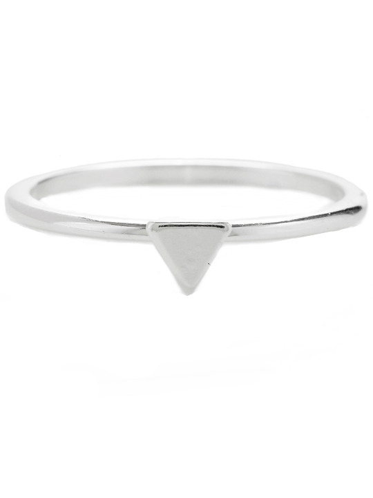 Bing Bang Triangle midi ring
