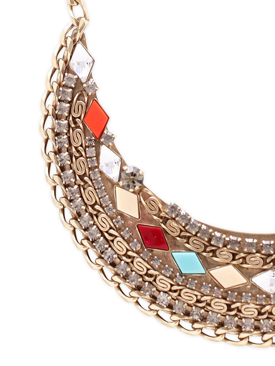 Anton Heunis Mosaic Embellished Bib necklace