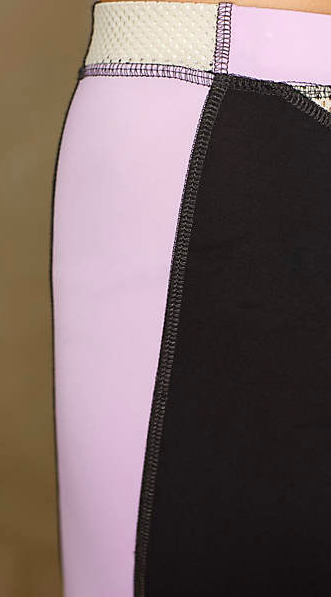 VPL Flexure Capri: Black x Lavendula