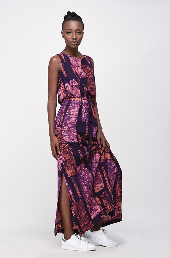 Osei-Duro Guise Maxi Dress in Carmine Streak