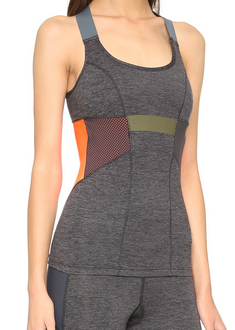 VPL Neo Overall Tank Shelf: Charcoal Marl x Caution Orange