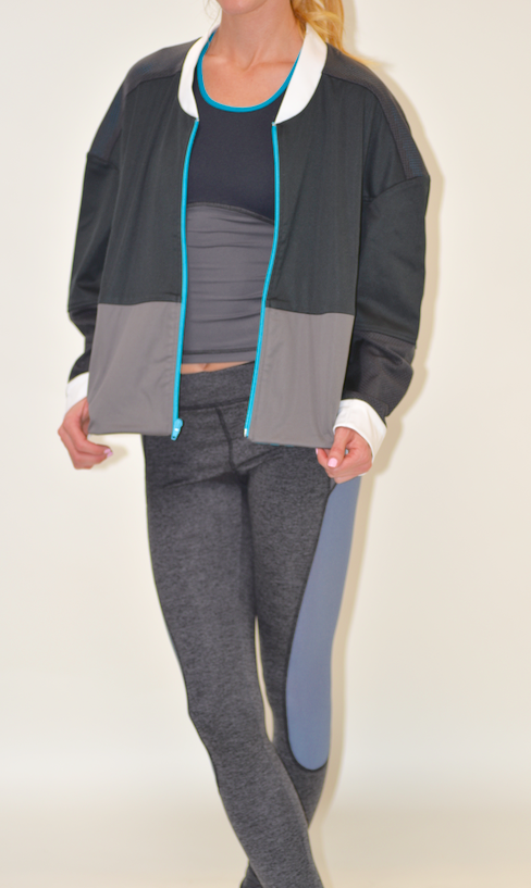 VPL Panopoly Jacket: Black & Turquoise Zipper