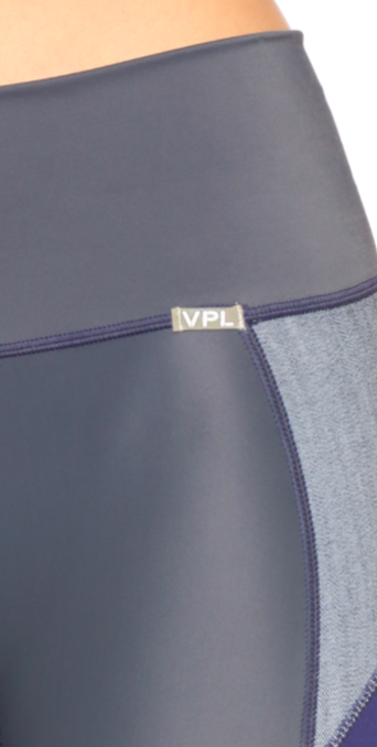 VPL X-Curvate Capri: Charcoal x Blue Denim