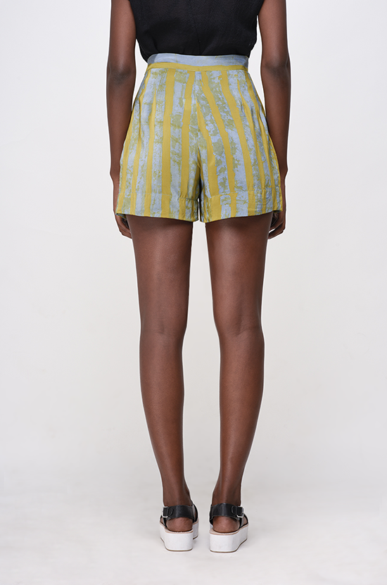 Osei-Duro Parva Shorts in Lawn Stripe