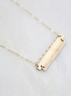 Double Plate Necklace