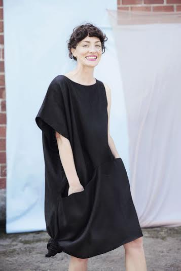 Portland Garment Factory Asymmetrical Pocket Dress