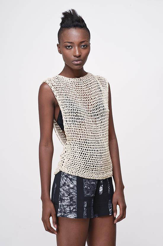 Osei-Duro Linia crochet tunic