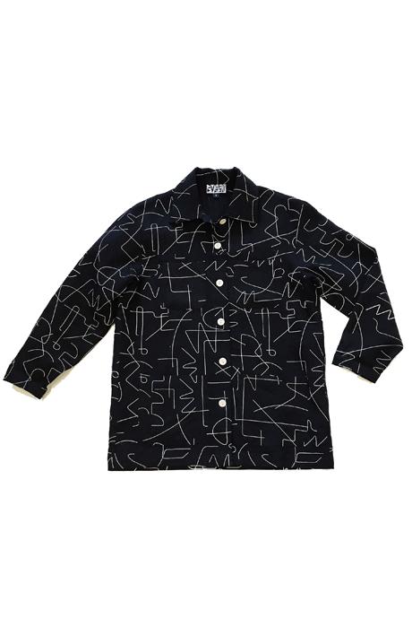 Dusen Dusen Black Wire Linen Jacket