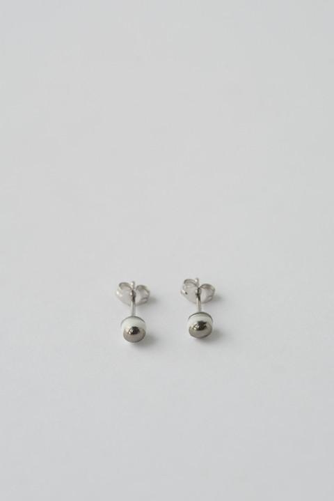 jujumade 14k White Gold Dot Earrings