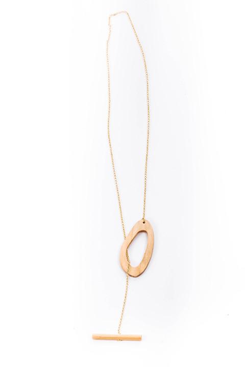 Amoeba Lariat Necklace by Sophie Monet
