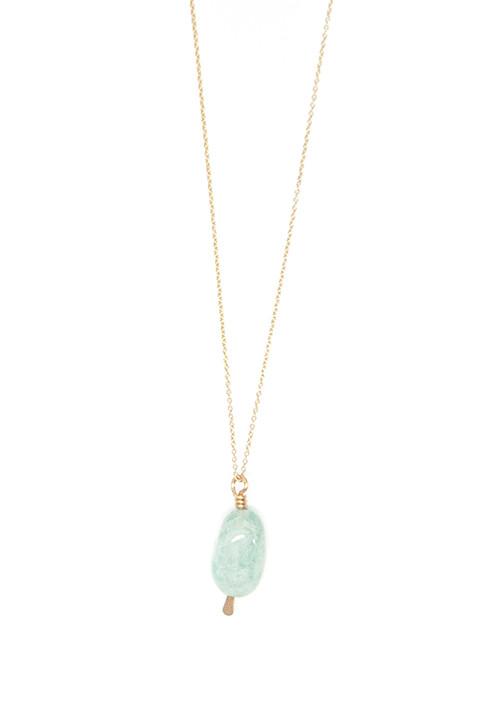 Mary MacGill Aquamarine Drop Necklace