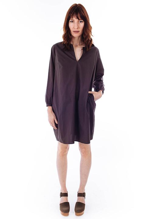 La Robe Chelsea Poplin Dress in Charcoal