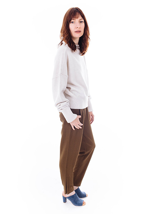 Ganni Clark Pants in Olive