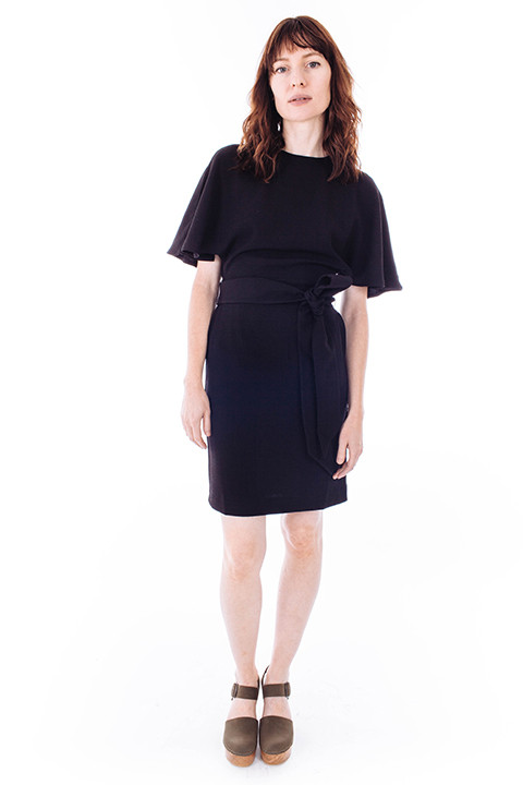Ganni Clark Shirt Dress in Black