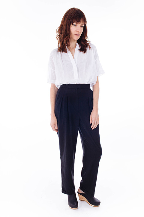 HEIDI MERRICK Kaolin Trouser in Black