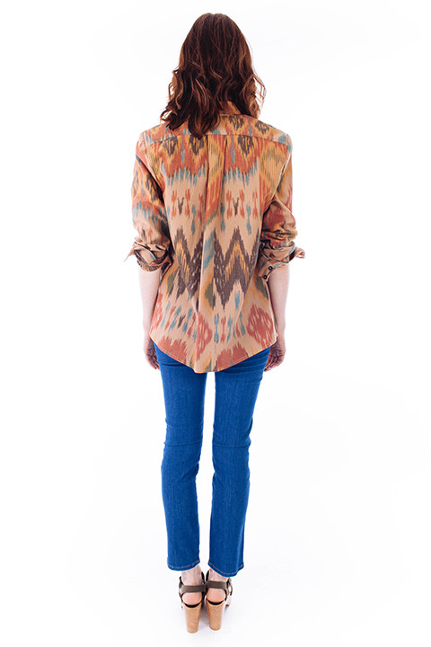 HEIDI MERRICK Mesic Top in Ikat