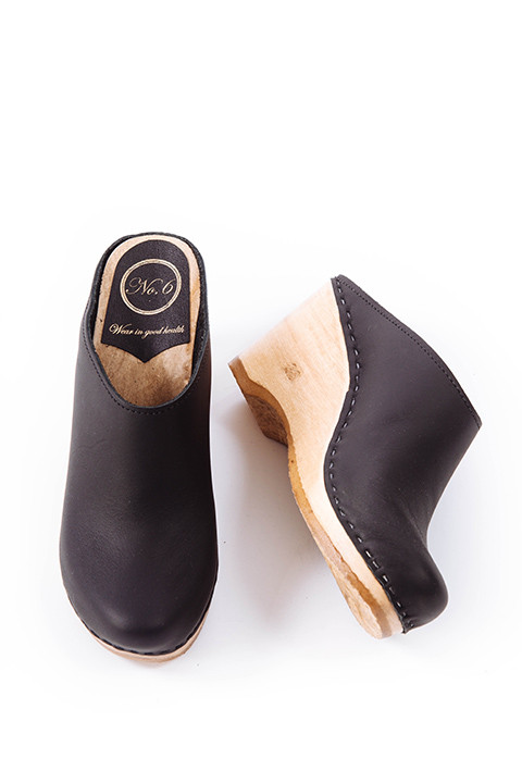 No. 6 New School Clog in Black