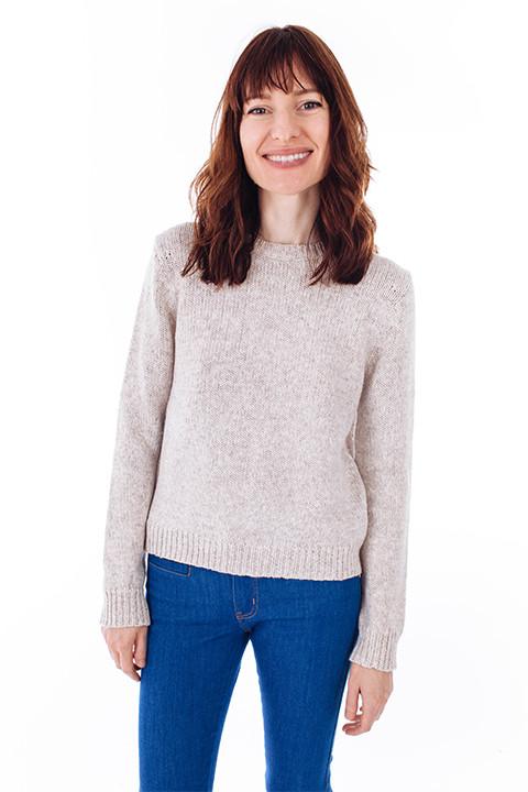 Oatmeal Crewneck Sweater by Jenni Kayne