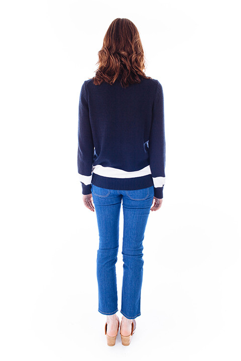Jenni Kayne Striped Navy & White Sweater