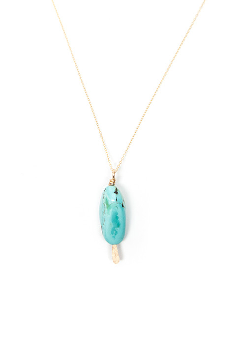 Mary MacGill Turqouise Drop Necklace