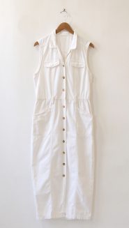 Namesake Vintage White Denim Dress