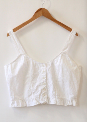 White Eyelet Top by Namesake Vintage