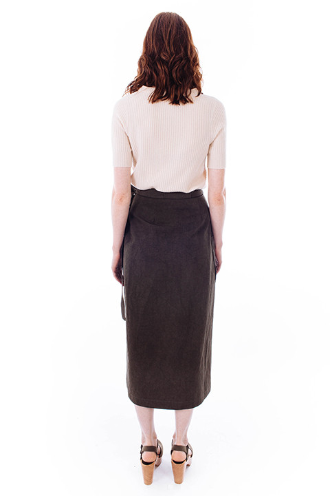 Svilu Wrap Skirt in Green
