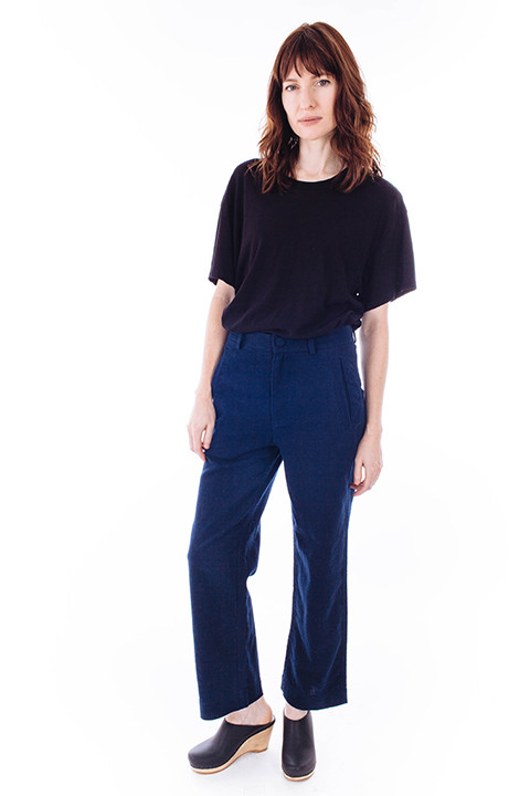 Ganni Yoshe Pants in Iris