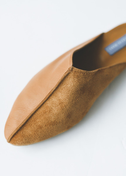 Proud Mary - Tan Leather Slide