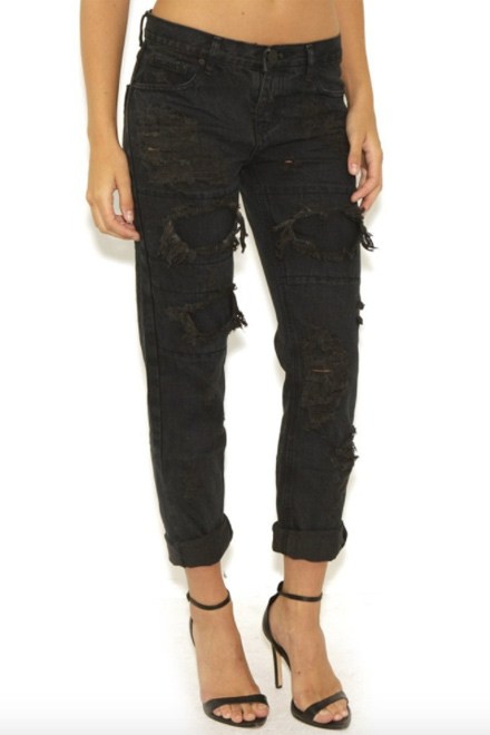 One Teaspoon Awesome Baggies Jeans- Fox Black