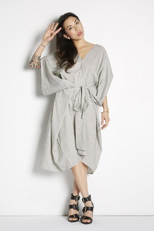 Dotted Kimono Dress