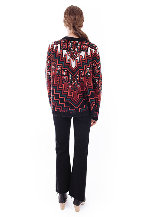 Mara Hoffman Pullover Sweater in Bolnisi Rug Knit
