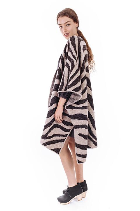 Mara Hoffman Zebra Sweater Cape