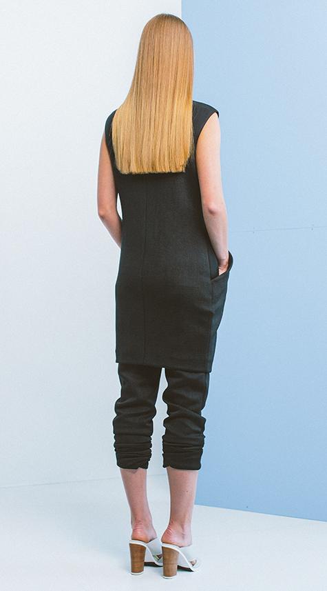 Obakki Long Cupro Vest with pockets