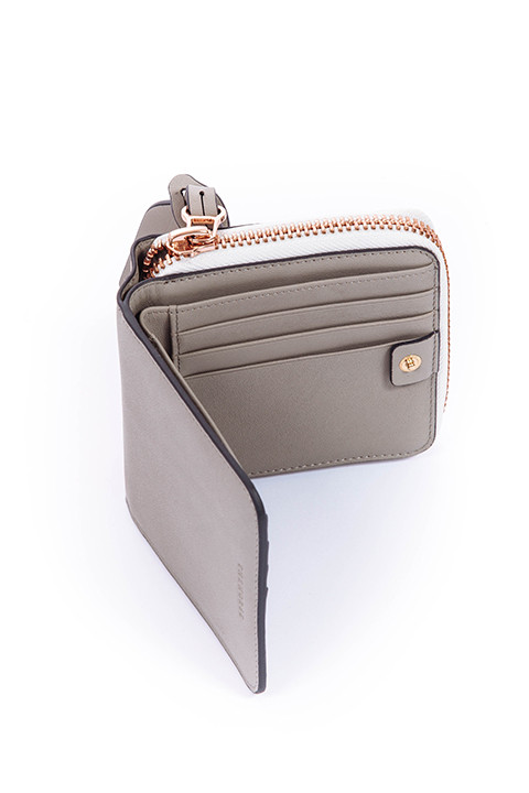 The Horse Mini Block Wallet in Blush and Pistachio