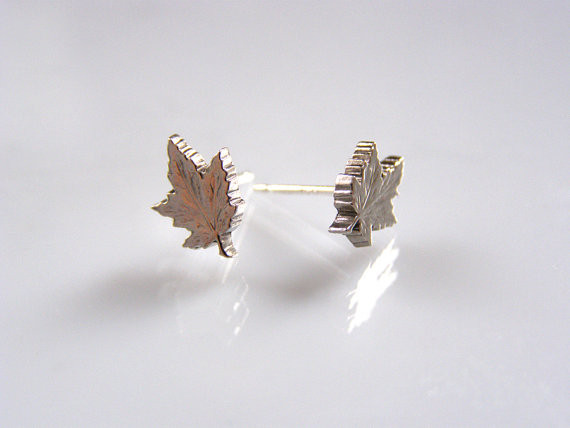 Micah Adams Nickel Leaf Studs