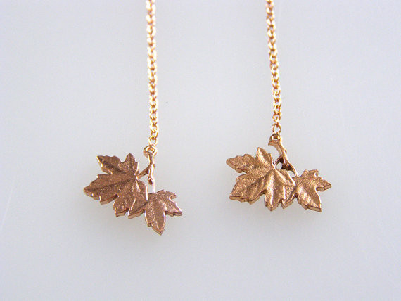 Micah Adams Penny Leaf Dangle Earings