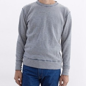 Men's Jungmaven Yarn Dyed Stripe Crewneck Sweatshirt
