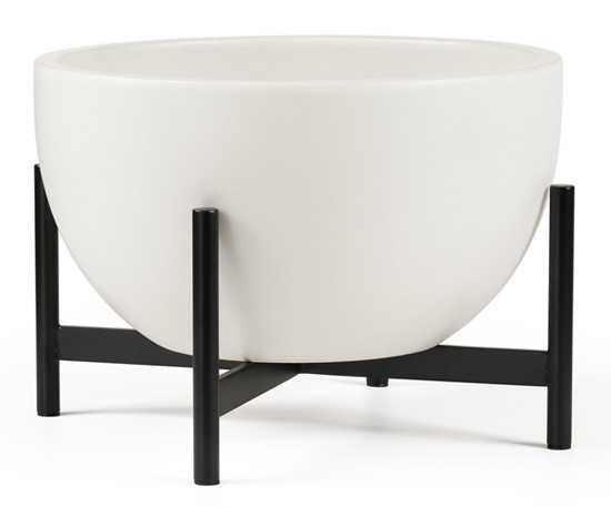 Modernica Case Study Ceramic Bowl With Metal Stand, M