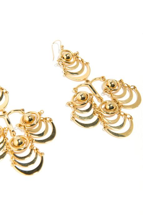 Lele Sadoughi Gold Orbit Chandelier Earrings