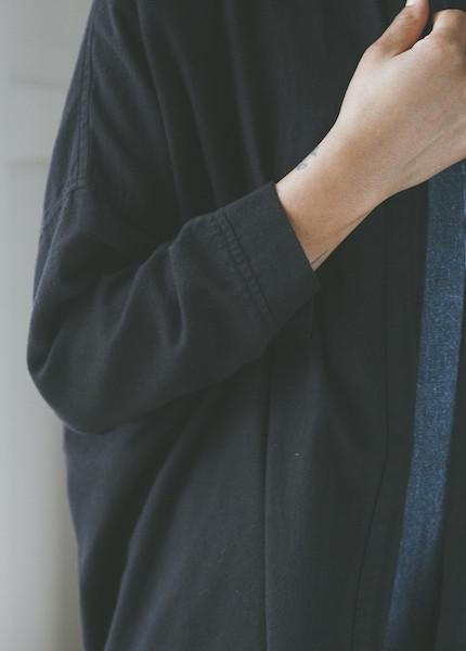 Black Crane Square Shirt - Black