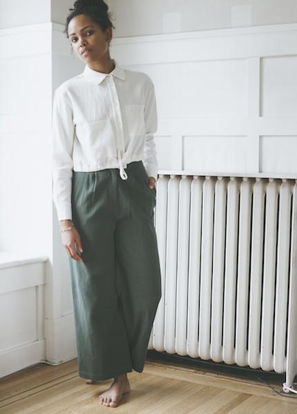 First Rite - Wide Trouser in Jade