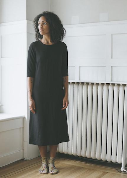Sunja Link Black Sheath Dress