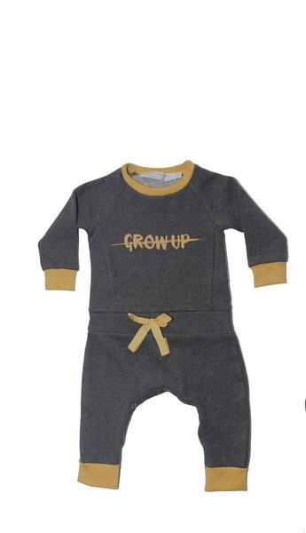 Les Petites Choses Pepper Black Don't Grow Up Romper - Coucou Boston