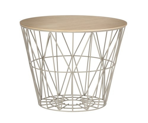 OILED OAK WIRE BASKET TOP - LARGE