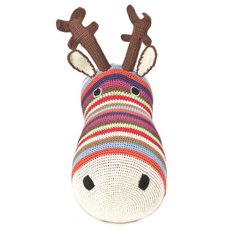 Anne-Claire Petit Reindeer Multi-Colored Trophy Head - Dodo Les Bobos