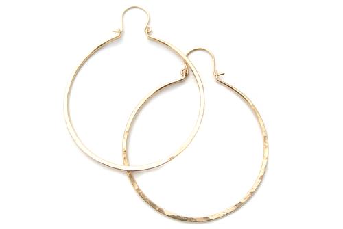 """Silversheep Jewelry 1.75"""" Hammered Hoop"""
