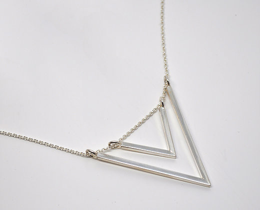 Points & Places Twin Triangles Necklace